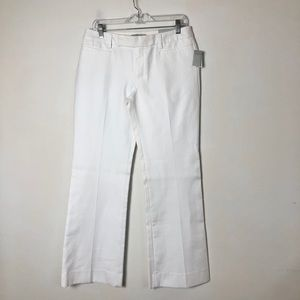 GAP women's white modern boot ankle pants